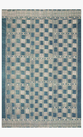 Mika Rug in Blue & Ivory by Loloi