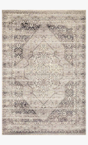 Mika Rug in Stone & Ivory by Loloi