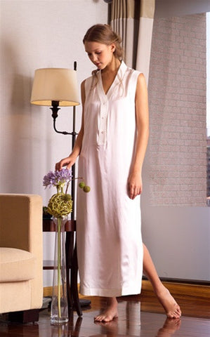Milan Silk Sleeveless Nightgown design by Kumi Kookoon