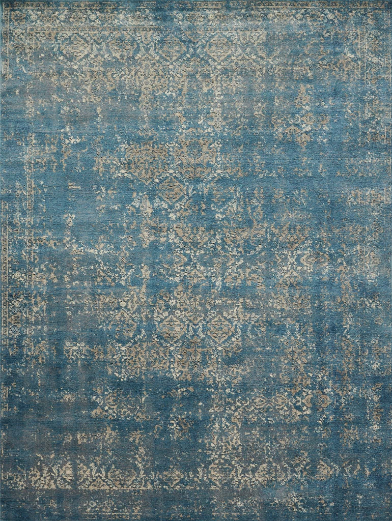 Millennium Rug in Blue & Taupe by Loloi