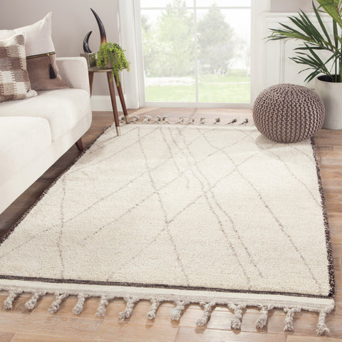 Danforth Trellis Rug in Turtledove & Pumice Stone design by Jaipur