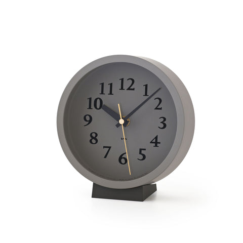 M Clock in Grey design by Lemnos