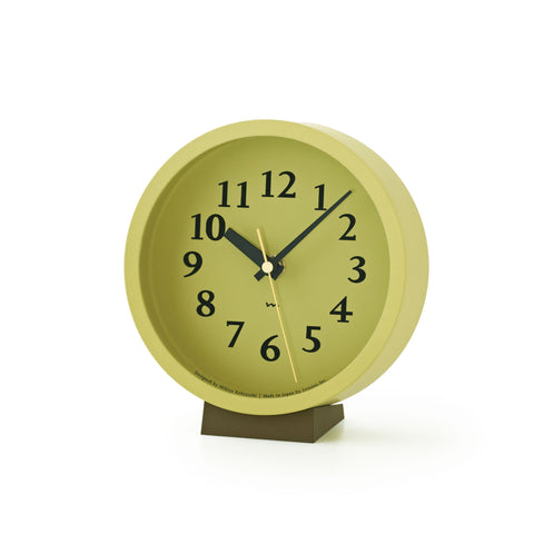M Clock in Green design by Lemnos