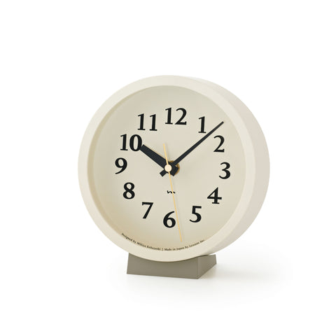 M Clock in Ivory design by Lemnos