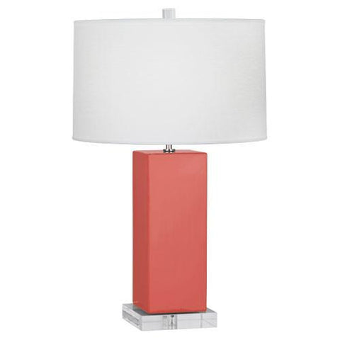 "Harvey Table Lamp (Multiple Colors) 33"" with Oyster Linen Shade by Robert Abbey"