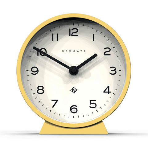 M Mantel Clock in Yellow design by Newgate