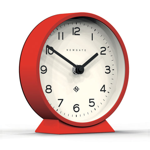 M Mantel Clock in Red design by Newgate