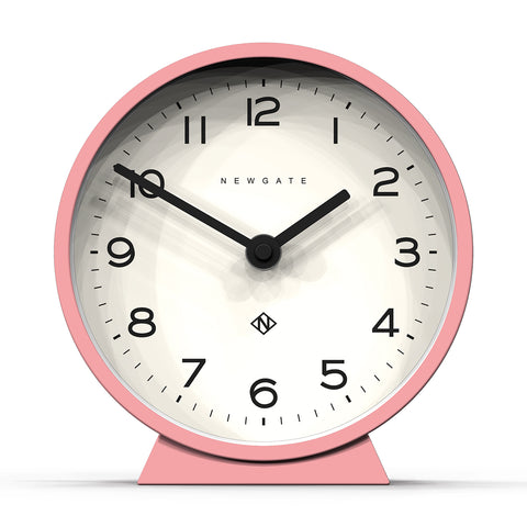 M Mantel Clock in Pink design by Newgate