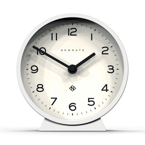 M Mantel Clock in White