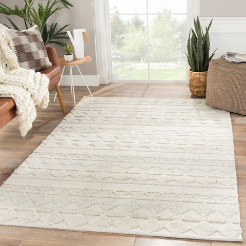 Elixir Geometric Rug in Whitecap Gray design by Nikki Chu for Jaipur