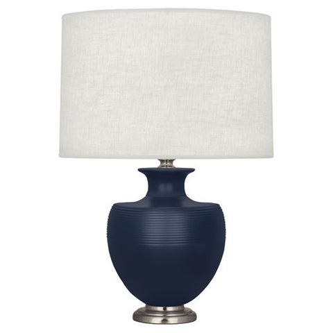 Atlas Midnight Blue Table Lamp by Michael Berman