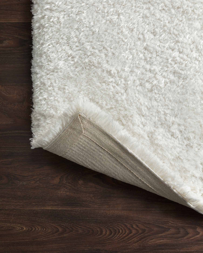 Mila Shag Rug in White by Loloi II