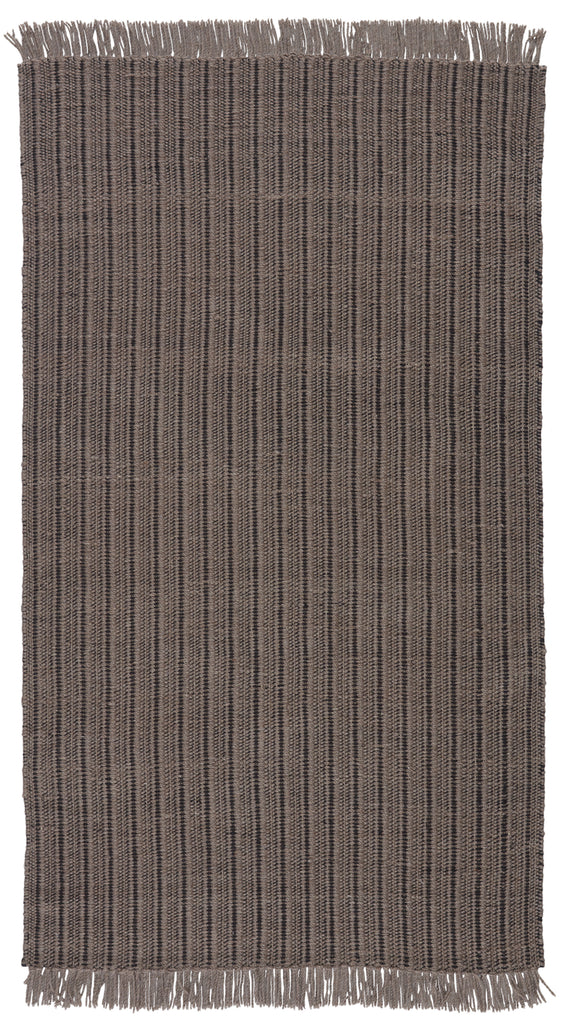 Poise Handmade Solid Rug in Gray & Black