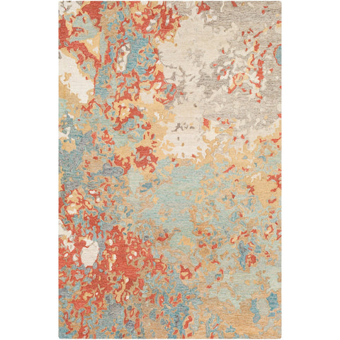 Modern Nouveau MNV-1000 Hand Tufted Rug in Rust & Aqua by Surya