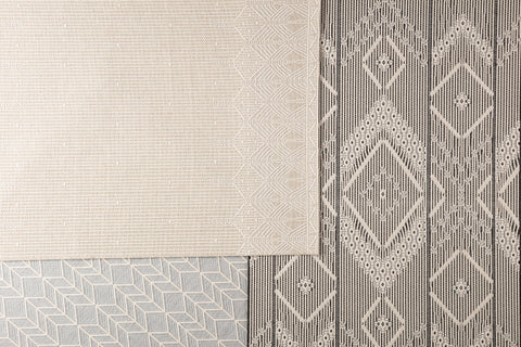 Galloway Indoor/ Outdoor Chevron Gray & Cream Area Rug