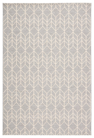 Galloway Indoor/ Outdoor Chevron Gray/ Cream Rug design by Jaipur