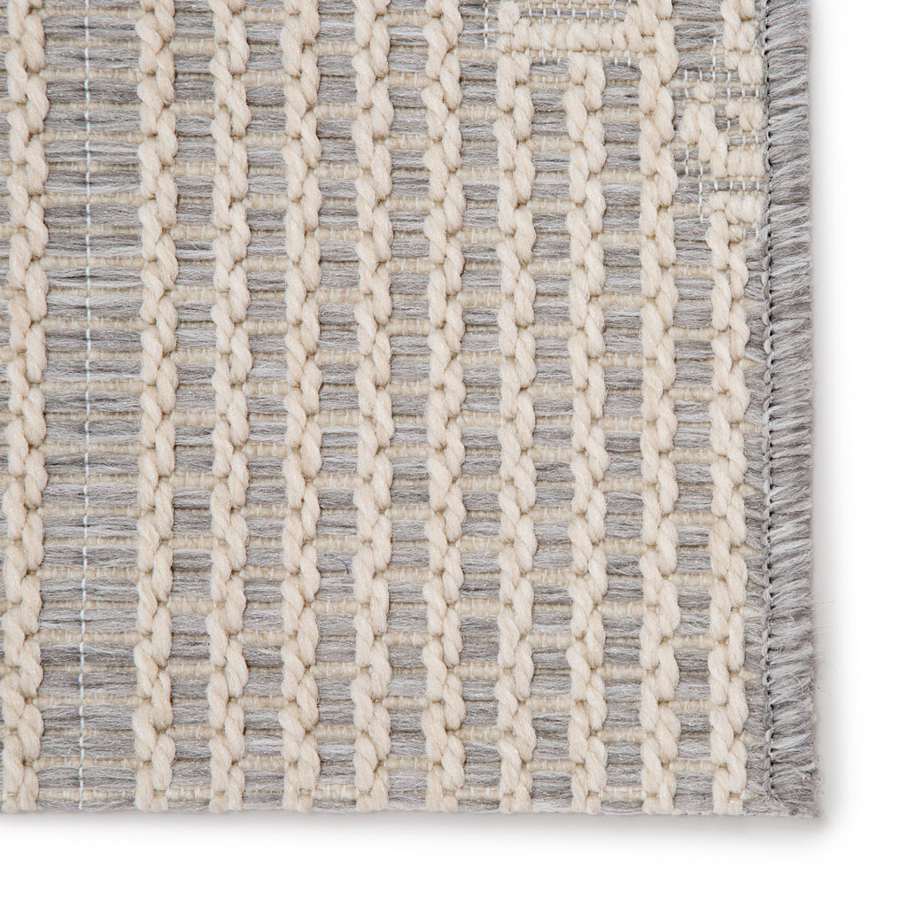 Shiloh Indoor/ Outdoor Tribal Gray/ Cream Rug design by Jaipur