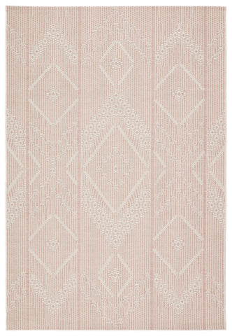 Shiloh Indoor/ Outdoor Tribal Light Pink/ Cream Rug by Jaipur Living