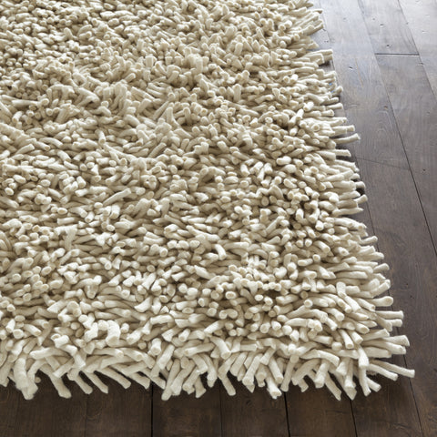 Montaro Collection Hand-Woven Area Rug in White design by Chandra rugs