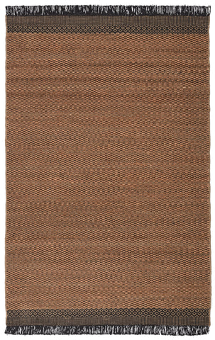 Saanvi Natural Border Tan/ Black Rug by Jaipur Living