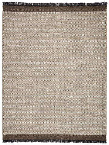 Saanvi Natural Border White/ Black Rug by Jaipur Living