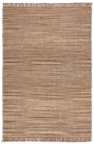Tansy Natural Striped Taupe/ Brown Rug by Jaipur Living