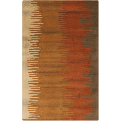 Mosaic Collection New Zealand Wool Area Rug in Golden Straw, Copper Penny, and Caramel