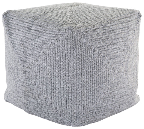 Bridgehampton December Sky Solid Pouf design by Jaipur