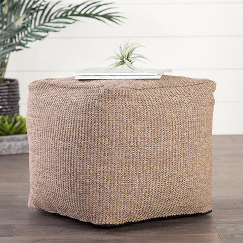 Mastic Solid Tan Indoor/ Outdoor Pouf