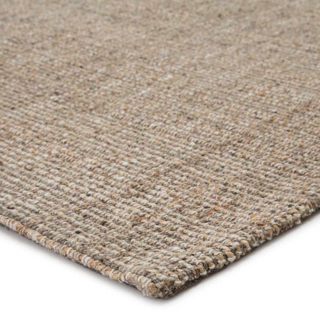 Sutton Natural Solid Tan/ Black Rug by Jaipur Living
