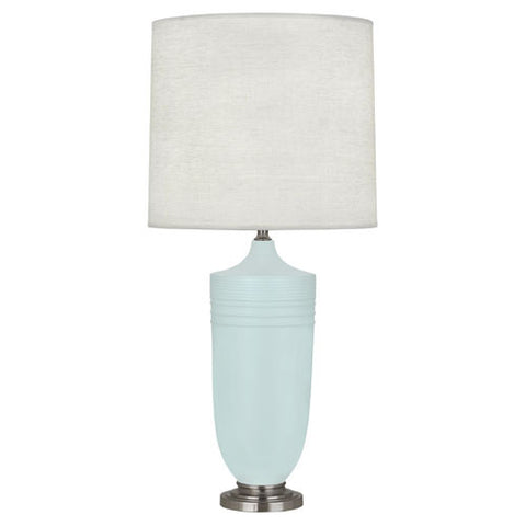 Michael Berman Hadrian Matte Sky Blue Table Lamp design by Robert Abbey