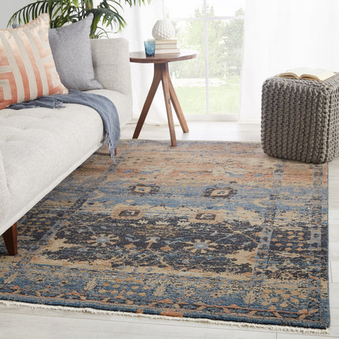 Caruso Oriental Blue & Taupe Rug by Jaipur Living