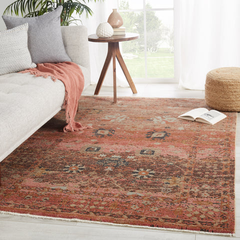 Caruso Oriental Pink & Rust Rug by Jaipur Living