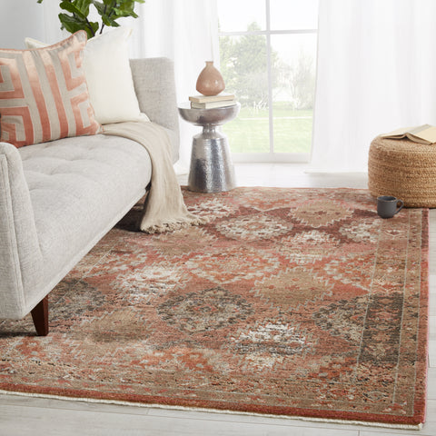 Lia Medallion Rust & Pink Rug by Jaipur Living
