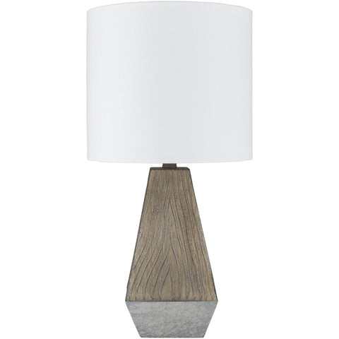 Mayer MYE-002 Table Lamp in White & Gray by Surya