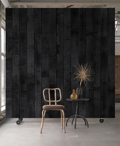 Maarten Baas Burnt Wood Wallpaper design by Piet Hein Eek for NLXL Wallpaper