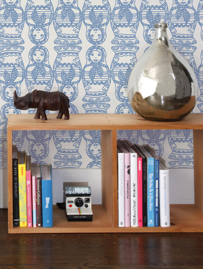 Maatuska Wallpaper in Blueberry design by Aimee Wilder