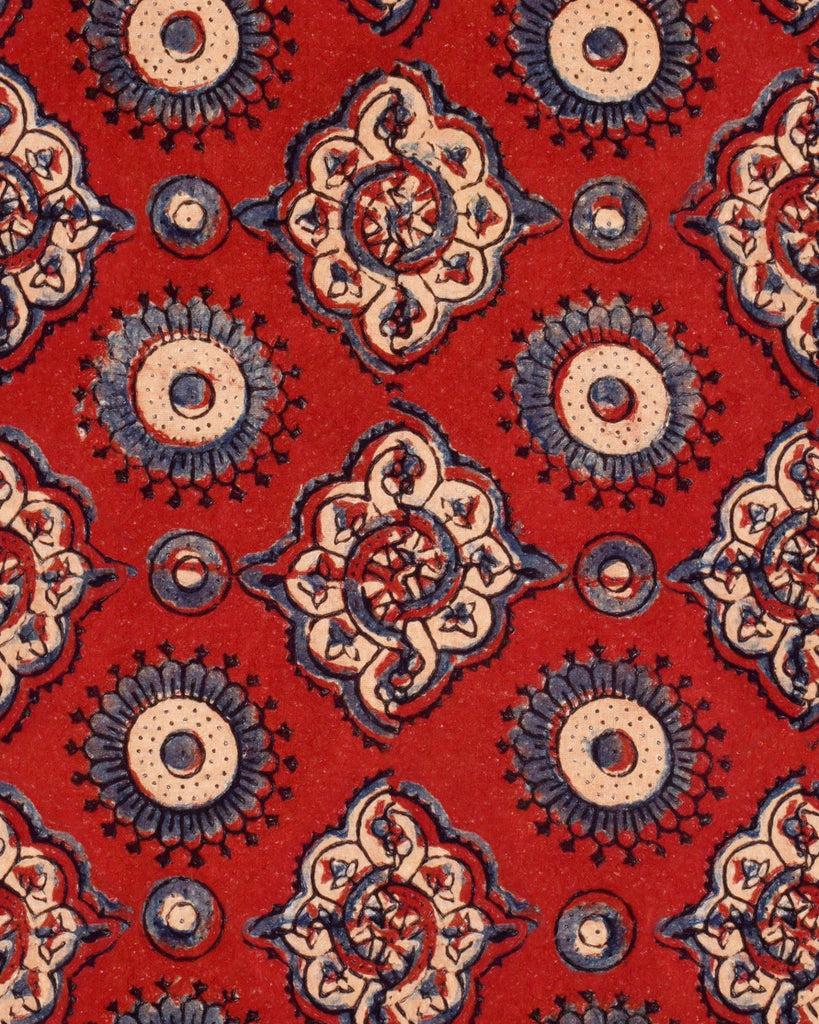 Sample Madder Wallpaper in Red from the Wallpaper Compendium Collection by Mind the Gap