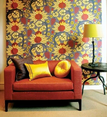 Maharani Wallpaper in Purple and Chartreuse from the Sariskar Collection by Osborne & Little