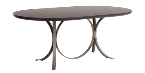 Manhattan Oval Dining Table in Coco Bean design by Redford House