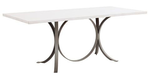 Manhattan Rectangle Dining Table in Raw Cotton design by Redford House