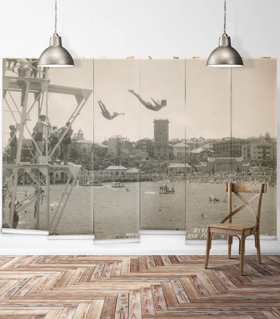Sample Manly High Dive Wall Mural from the Erstwhile Collection by Milton & King