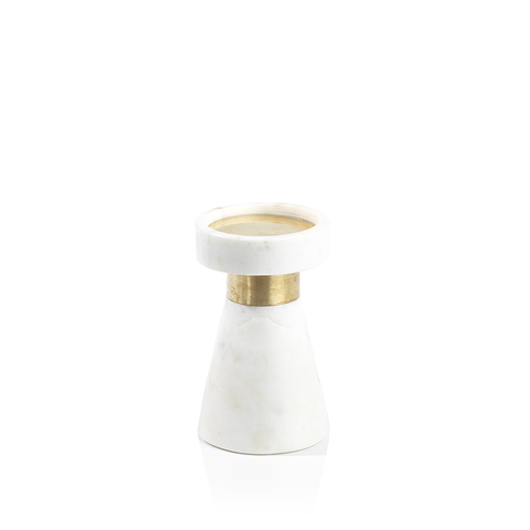Mannara Marble Pillar Candle Holder in Various Sizes
