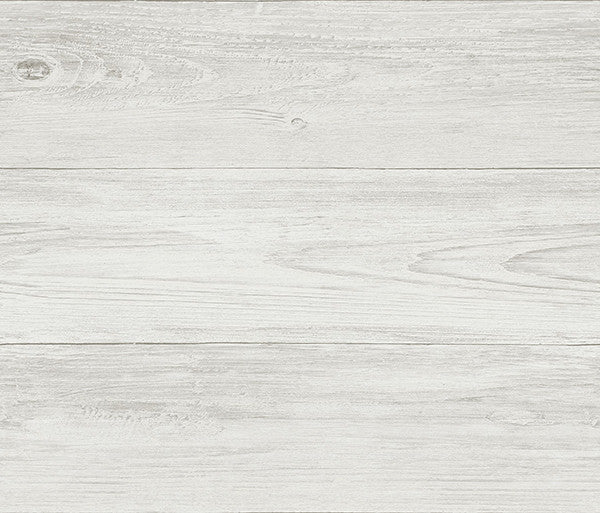 Sample Mapleton Grey Faux Wood Wallpaper from the Seaside Living Collection by Brewster Home Fashions