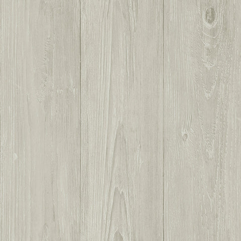 Mapleton Light Grey Faux Wood Wallpaper from the Seaside Living Collection by Brewster Home Fashions