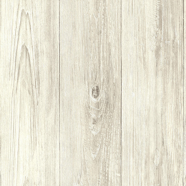 Sample Mapleton Taupe Faux Wood Wallpaper from the Seaside Living Collection by Brewster Home Fashions