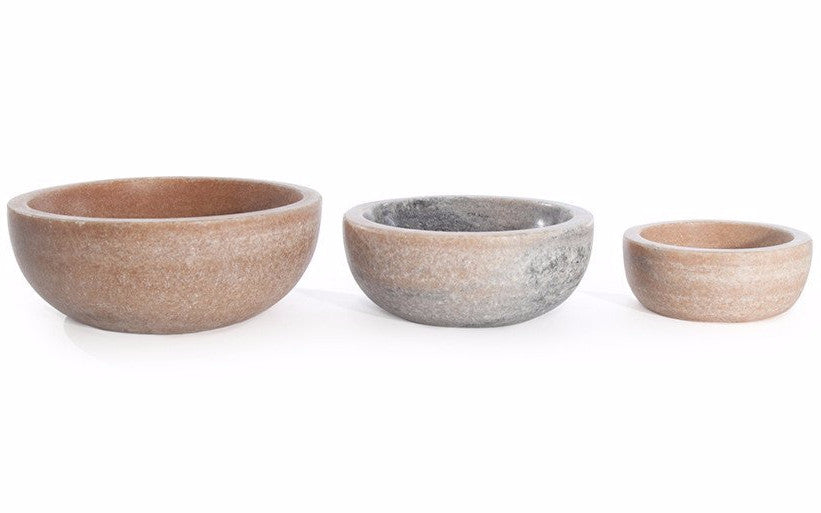 Mara Marble Bowls in Various Colors & Sizes design by Hawkins New York