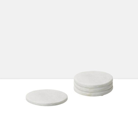 Marble Coasters Round Set of Four