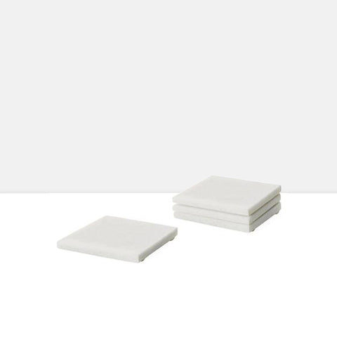 Marble Coasters Square Set of Four
