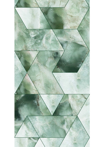 Marble Mosaic Wallpaper in Green by KEK Amsterdam